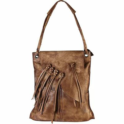 ディオフィ Diophy トートバッグ Fringe Large Shopping Tote Brown