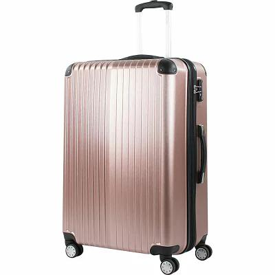 アメリカングリーントラベル American Green Travel スーツケース・キャリーバッグ Melrose 25' Expandable Hardside Checked Spinner Luggage Rose Gold