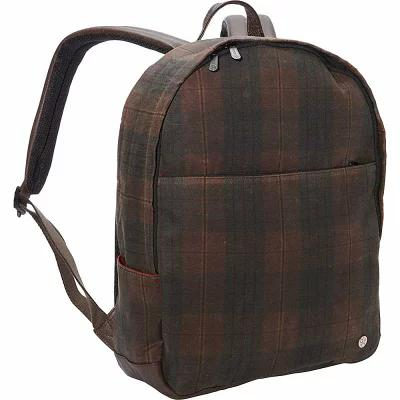 トーケン TOKEN バックパック・リュック University Waxed Backpack Dark Brown Plaid