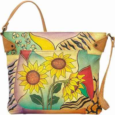 アヌシュカ ANNA by Anuschka トートバッグ Medium Convertible Tote Sunflower Safari