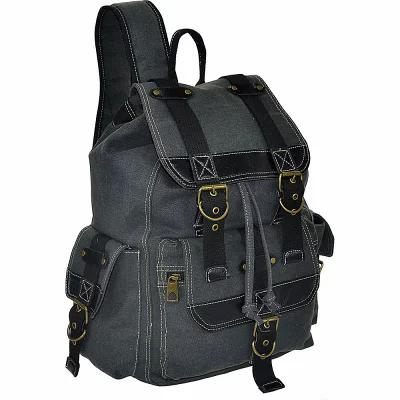 アールアンドアールコレクションズ R & R Collections バックパック・リュック Canvas Backpack with Flap and 2 Side Pockets Black, LCIPARTS EXHAUST:849ae9f2 --- geneon-ent.jp