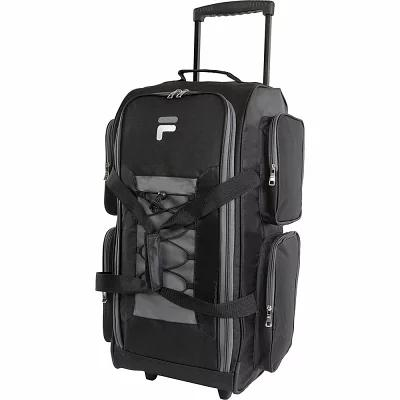 フィラ Fila スーツケース・キャリーバッグ 26' Lightweight Medium Check In Rolling Duffel Bag Black