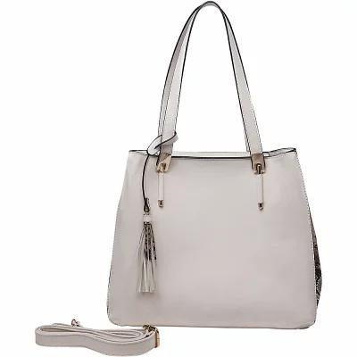 MKFコレクション MKF Collection by Mia K. Farrow トートバッグ Abagail Shoulder Tote with Removable Organizer Pouch Beige