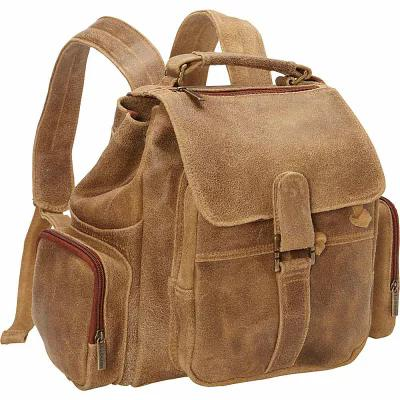 ルドンレザー Le Donne Leather バックパック・リュック Distressed Leather Multi Pocket Back Pack Tan
