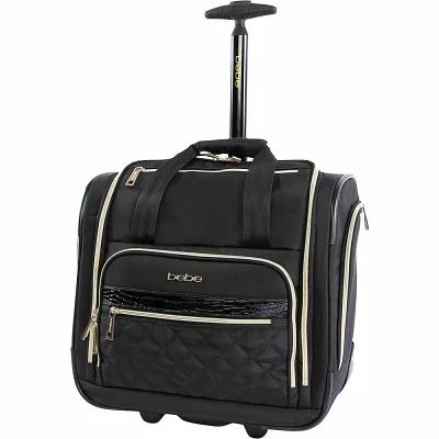 ベベ BEBE スーツケース・キャリーバッグ Leena Under the Seat Carry-On Rolling Tote Black