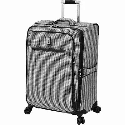 ロンドンフォグ London Fog スーツケース・キャリーバッグ Cambridge II 25' Expandable Spinner Checked Luggage Black White Houndstooth