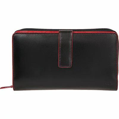 ローディス Lodis 財布 Audrey Deluxe RFID Checkbook Clutch New Black