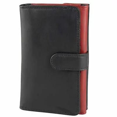 デレクアレクサンダー Derek Alexander 財布 Ladies Trifold Wallet Black/Red