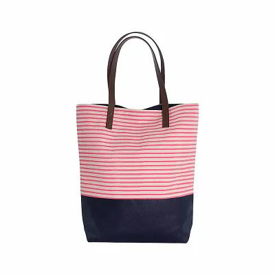 CBステーション CB Station トートバッグ Seaport Stripes Dipped Tote Coral/Navy