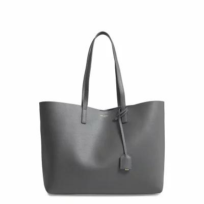 イヴ サンローラン SAINT LAURENT トートバッグ 'Shopping' Leather Tote Storm