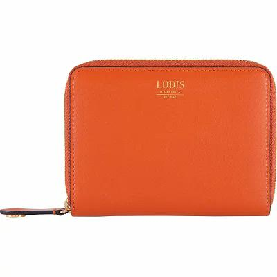 ローディス Lodis 財布 Laguna RFID Laney Continental Double Zip Wallet Papaya