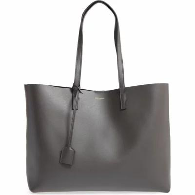 イヴ サンローラン SAINT LAURENT トートバッグ 'Shopping' Leather Tote Dark Anthracite