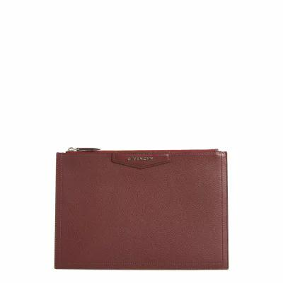 ジバンシー GIVENCHY クラッチバッグ Medium Antigona Leather Pouch Aubergine