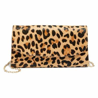 ノードストローム NORDSTROM クラッチバッグ Genuine Calf Hair Leopard Print Clutch Natural Leopard
