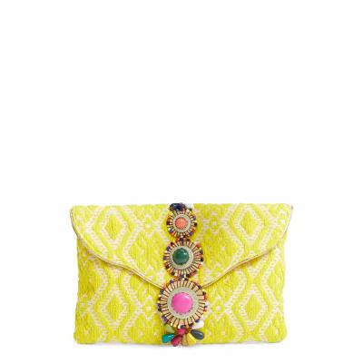 スティーブ マデン STEVE MADDEN クラッチバッグ Steven by Steve Madden Beaded & Embroidered Clutch Yellow