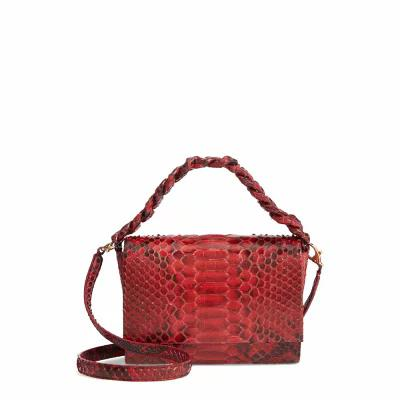ナンシー ゴンザレス NANCY GONZALEZ クラッチバッグ Small Carrie Genuine Crocodile Metallic Clutch Burgundy Python