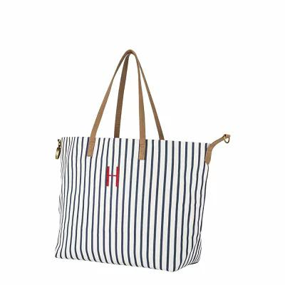 キャシーズ コンセプツ CATHY'S CONCEPTS トートバッグ Monogram Overnight Tote Blue H