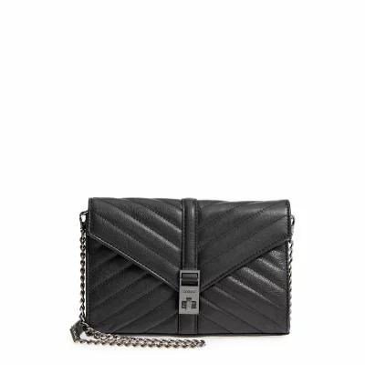 ボトキエ BOTKIER クラッチバッグ Dakota Quilted Leather Clutch Black