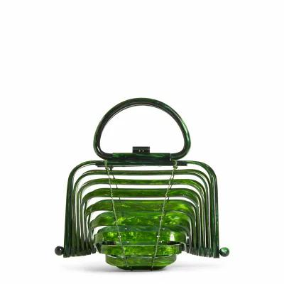 カルト ガイア CULT GAIA クラッチバッグ The Lilleth Acrylic Handbag Green Malachite