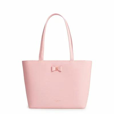 テッドベーカー TED BAKER LONDON トートバッグ Bow Detail Leather Shopper Light Pink