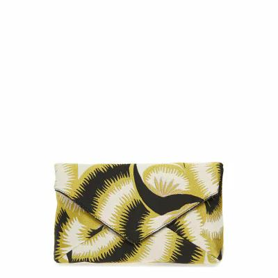 ドリス ヴァン ノッテン DRIES VAN NOTEN クラッチバッグ Floral Jacquard Envelope Clutch Yellow