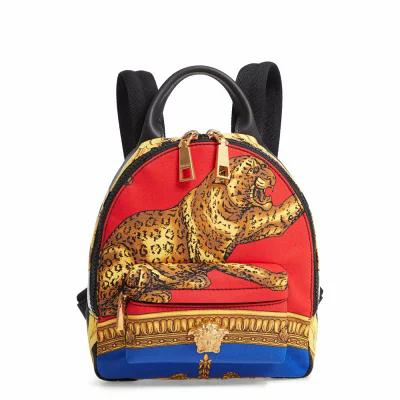 ヴェルサーチ VERSACE バックパック・リュック Mini Palazzo Pillow Talk Nylon Backpack Blue Multi