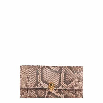 アレキサンダー マックイーン ALEXANDER MCQUEEN 財布 Genuine Python Wallet on a Chain Nude/ Brown