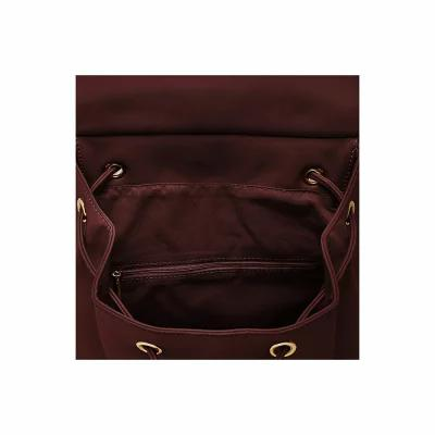 56dc107d4369  お取り寄せ商品  Vegan Leather Hide And Seek Backpack Burgundy