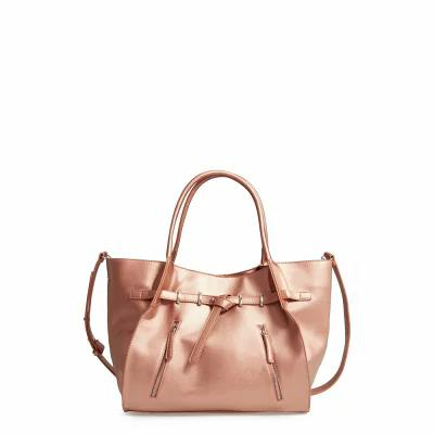 マリブ スカイ MALIBU SKYE トートバッグ Large Faux Leather Carryall Tote Rose Gold
