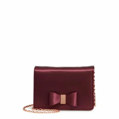 テッドベーカー TED BAKER LONDON クラッチバッグ Eveelyn Bow Satin Evening Bag Deep Purple