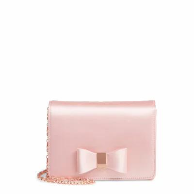 テッドベーカー TED BAKER LONDON クラッチバッグ Eveelyn Bow Satin Evening Bag Light Pink
