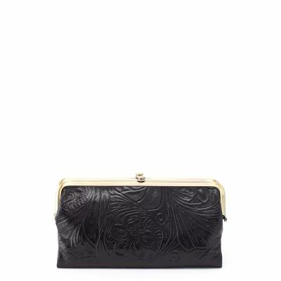 ホーボー HOBO クラッチバッグ Lauren Flower Embossed Clutch Wallet Embossed Black