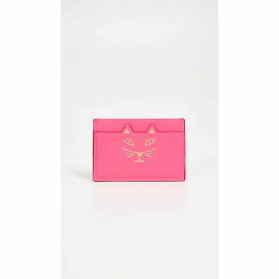 シャーロット オリンピア Charlotte Olympia 財布 Kitty Wallet Fuschia