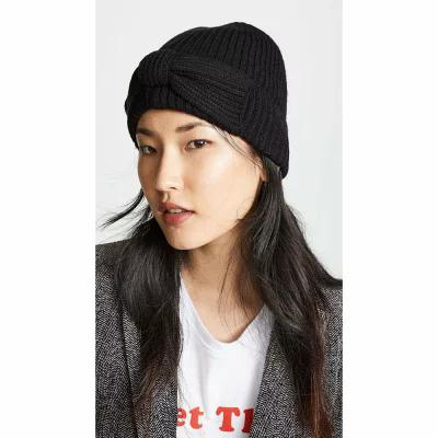 ケイト スペード Kate Spade New York ニット Solid Bow Beanie Hat Black