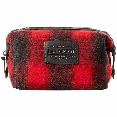 ペンドルトン Pendleton クラッチバッグ Essentials Pouch Red/Charcoal Mix Buffalo Check Ombre