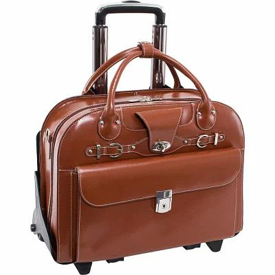 マックレーンユーエスエー McKlein USA パソコンバッグ Roseville 15' Fly-Through Checkpoint-Friendly Removable Rolling Ladies' Laptop Case Brown