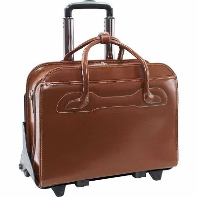 マックレーンユーエスエー McKlein USA パソコンバッグ W Series Willowbrook Leather Detachable Wheeled Laptop Case Brown