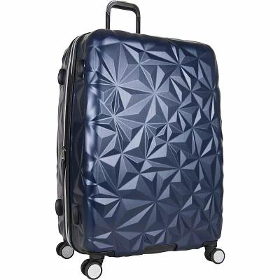 エイミー ケステンバーグ Aimee Kestenberg スーツケース・キャリーバッグ Geo Chic 28' Embossed Expandable Spinner Checked Luggage Navy With Hematite Hardware