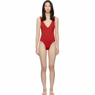 ハー ライン Her Line ワンピース SSENSE Exclusive Red Ester One-Piece Swimsuit