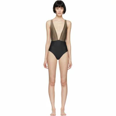 ヘイト Haight ワンピース Black & Taupe Marina One-Piece Swimsuit