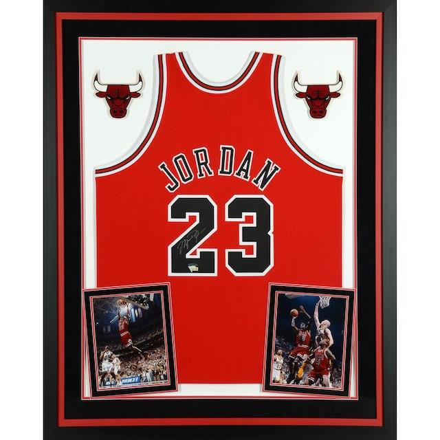Upper Deck Michael Jordan Chicago Deck Bulls Jordan Deluxe Ness Framed Autographed Mitchell & Ness Red Jersey ユニセックス, アクティブクイーン:13ecd217 --- apps.fesystemap.dominiotemporario.com