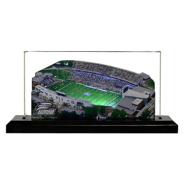 Georgia Southern Eagles 9 x 4 Light Up Paulson Stadium with Display Case ユニセックス