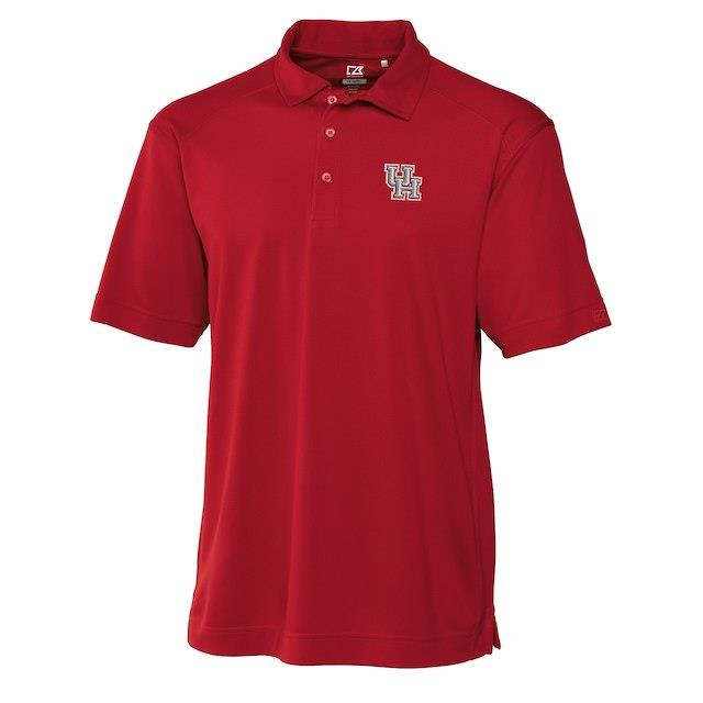 Cutter & Buck Houston Cougars Red Big & Tall DryTec Genre Polo メンズ