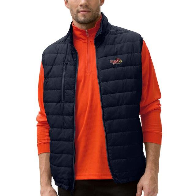 Illinois State Redbirds Black Apex Compressible Quilted Vest メンズ