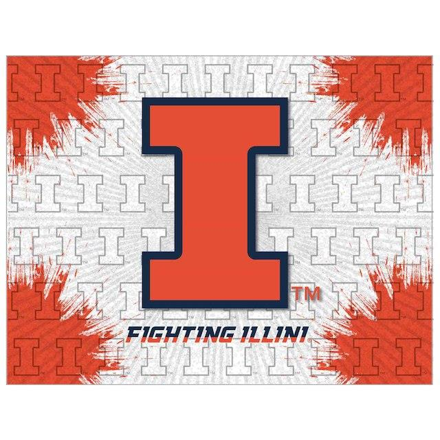 Illinois Fighting Illini 24 x 32 Printed Canvas Art ユニセックス