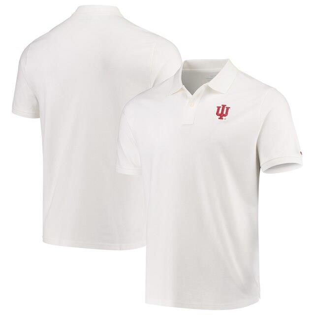 Vineyard Vines Indiana Hoosiers White Stretch Pique Polo メンズ