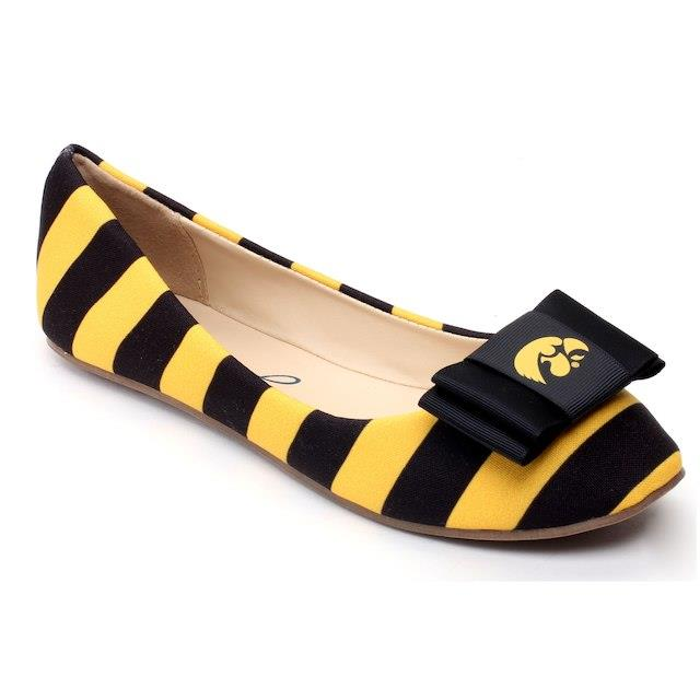 Lillybee U Iowa Hawkeyes Women's Flats with Removable Bow ユニセックス