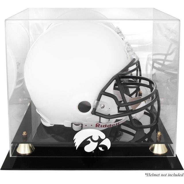 Fanatics Authentic Iowa Hawkeyes Golden Classic Logo Helmet Display Case with Mirrored Back ユニセックス