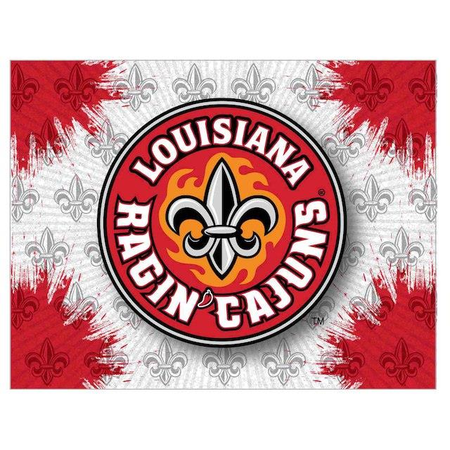 Louisiana Ragin' Cajuns 24 x 32 Printed Canvas Art ユニセックス