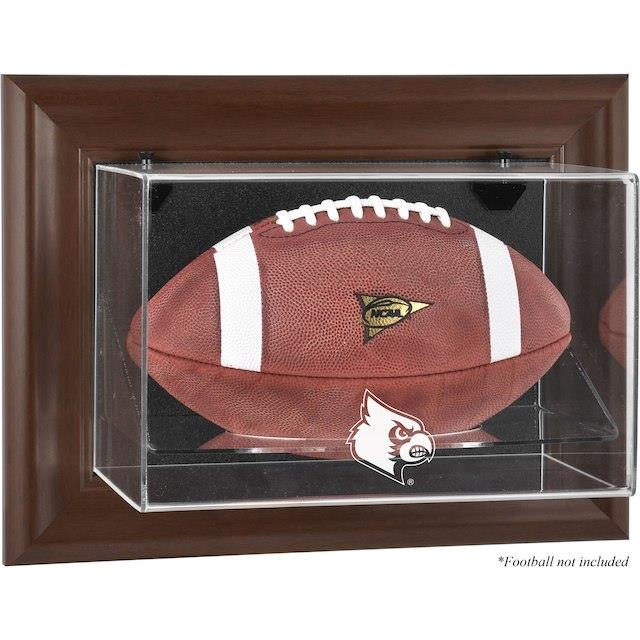 Fanatics Authentic Louisville Cardinals Brown Framed Logo Wall-Mountable Football Display Case ユニセックス